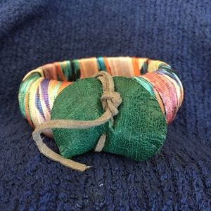 Jewelry - Colorful Fabric Wrapped Bangle